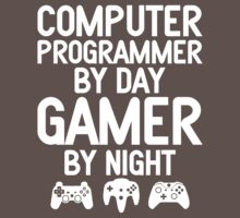 Computer Programmer by Day Gamer by Night by designbymike