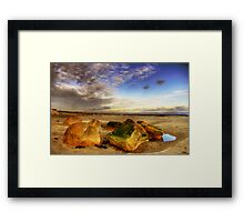 Rock solid in time  Framed Print