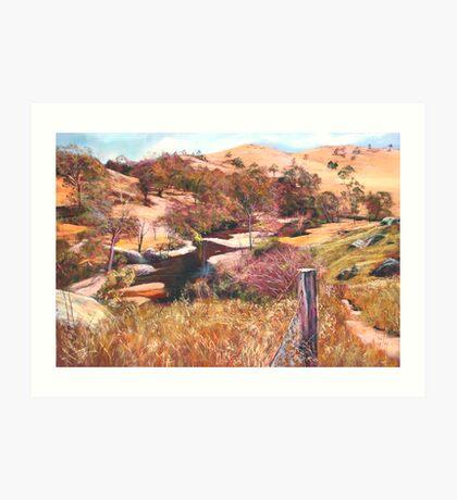 'Above Hughes Creek' Art Print