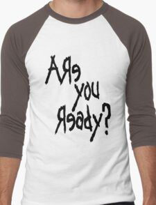 Are You Ready? (Black text) Men's Baseball ¾ T-Shirt