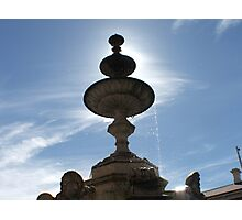Fountain silhoutte Photographic Print