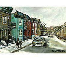 HISTORICAL VERDUN STREET RUE MAY VANISHING MONTREAL Photographic Print