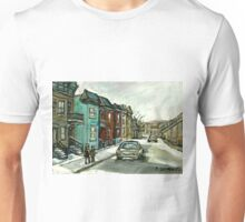 HISTORICAL VERDUN STREET RUE MAY VANISHING MONTREAL Unisex T-Shirt
