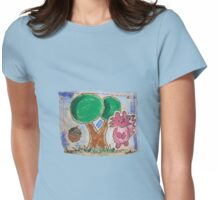 Squirrel & Tree Womens Fitted T-Shirt