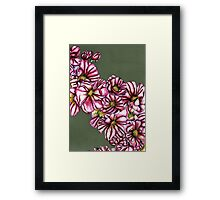 Almond tree flowers Framed Print