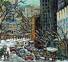 MONTREAL ART MCGILL UNIVERSITY RODDICK GATES by Carole  Spandau