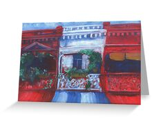 Rundle Street Terrace Houses Greeting Card