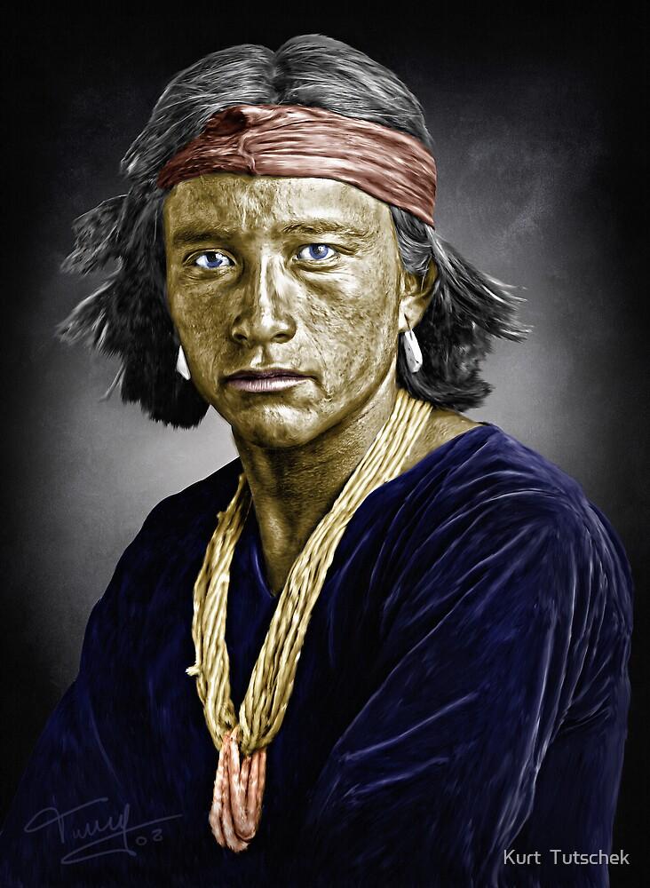 Navajo boy by Kurt  Tutschek