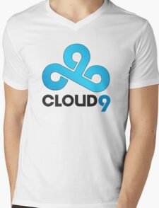 Cloud 9 - Sleek Gloss Mens V-Neck T-Shirt