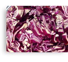 Red Cabbage.................................Plus Recipe Canvas Print