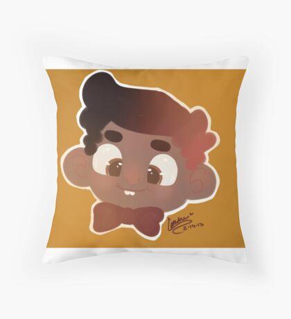 smiley boy Throw Pillow