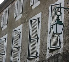 Shutters all in a row by Pamela Jayne Smith