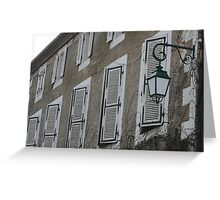 Shutters all in a row Greeting Card