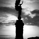 Peace Statue Brighton at dusk. by ReidOriginals