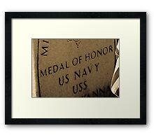 Medal Of Honor Framed Print