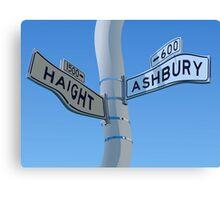 Haight Ashbury Warp Canvas Print