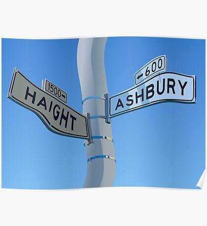 Haight Ashbury Warp Poster