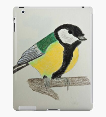 Great Tit Coloured Pencil Drawing iPad Case/Skin