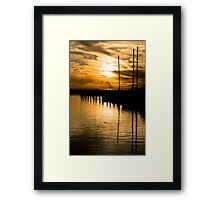 Golden Glory Framed Print