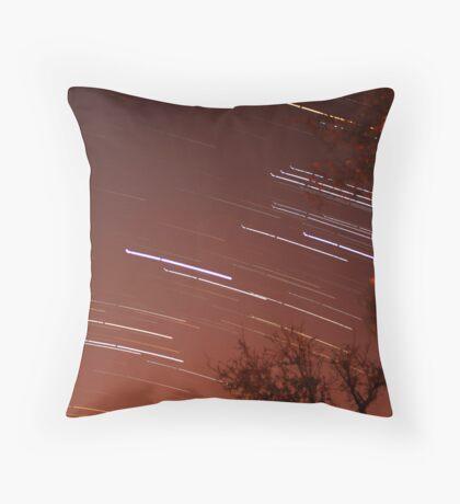 Startrails II Throw Pillow