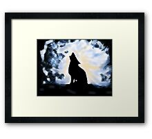 Howling up a Storm Framed Print