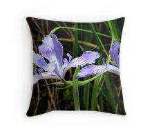 Wild Iris at Sweet Creek Throw Pillow