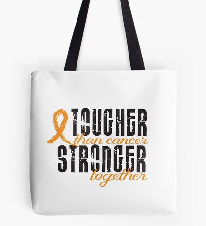 Tougher than cancer. Stronger together. Tote Bag