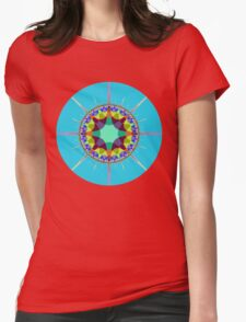 Radiating colors Womens Fitted T-Shirt