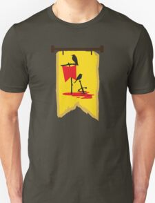 BANNER CREST SIGIL Crows with red banners on a blood soaked battlefield Unisex T-Shirt