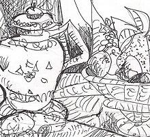 MANGOS AND TEA - STILL LIFE(C2012) by Paul Romanowski