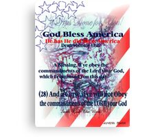 God Has Blessed America has has has  hassssssssss Canvas Print