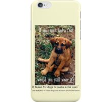 Dog Coat iPhone Case/Skin