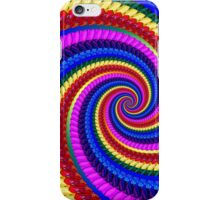 Rainbow Psychedelic Spiral Fractal Pattern iPhone Case/Skin