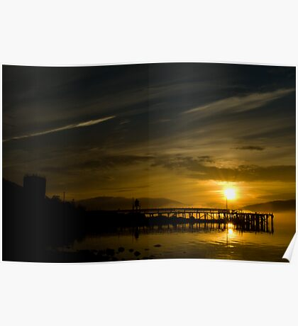 Sunset In Mo I Rana Poster