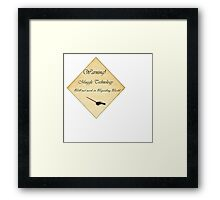 HP Muggle Technology Template, Harry Potter Framed Print