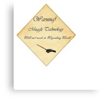 HP Muggle Technology Template, Harry Potter Canvas Print