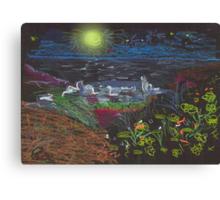 FULL MOON OVER MATALA(C2007) Canvas Print