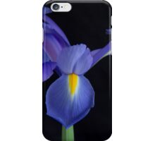 A Dramatic Moment With A Blue Iris iPhone Case/Skin