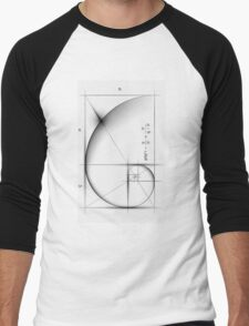 Golden Ratio - Large Men's Baseball ¾ T-Shirt