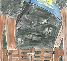 Moonlit Graveyard by DarlingJessie