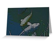 Green Fish Greeting Card