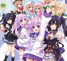 Hyperdimension Neptunia Re;Birth 2 main cast by Kazkari
