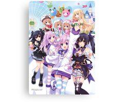Hyperdimension Neptunia Re;Birth 2 main cast Canvas Print