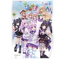 Hyperdimension Neptunia Re;Birth 2 main cast Poster