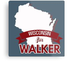 Wisconsin for Walker Metal Print