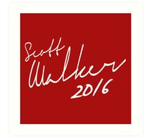 Scott Walker 2016 Autograph Art Print