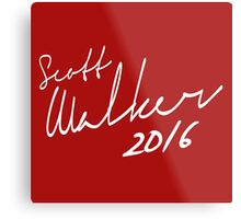 Scott Walker 2016 Autograph Metal Print