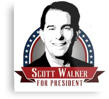 Scott Walker for President Metal Print