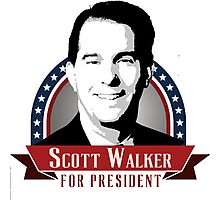 Scott Walker for President Photographic Print