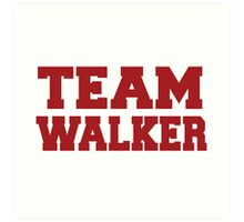 Team Walker 2016 Art Print